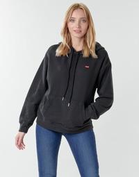 textil Dame Sweatshirts Levi's STANDARD HOODIE Sort