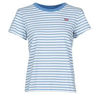textil Dame T-shirts m. korte ærmer Levi's PERFECT TEE Blå
