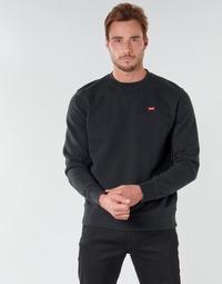 textil Herre Sweatshirts Levi's NEW ORIGINAL CREW Sort
