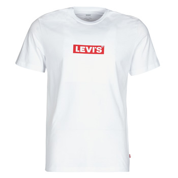 textil Herre T-shirts m. korte ærmer Levi's BOXTAB GRAPHIC TEE Hvid