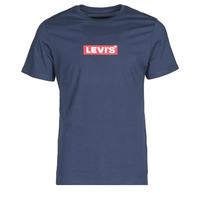 textil Herre T-shirts m. korte ærmer Levi's BOXTAB GRAPHIC TEE Blå
