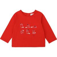 textil Pige Langærmede T-shirts Carrément Beau Y95252 Rød