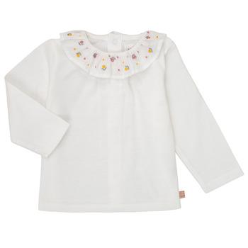 textil Pige Langærmede T-shirts Carrément Beau Y95244 Hvid