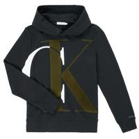 textil Dreng Sweatshirts Calvin Klein Jeans IB0IB00628-BEH Sort