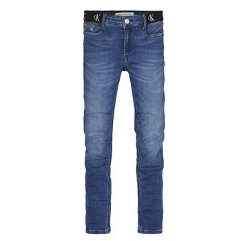 textil Pige Jeans - skinny Calvin Klein Jeans IG0IG00639-1A4 Blå