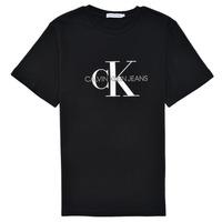 textil Børn T-shirts m. korte ærmer Calvin Klein Jeans MONOGRAM Sort