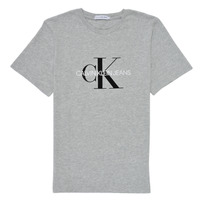 textil Børn T-shirts m. korte ærmer Calvin Klein Jeans MONOGRAM Grå