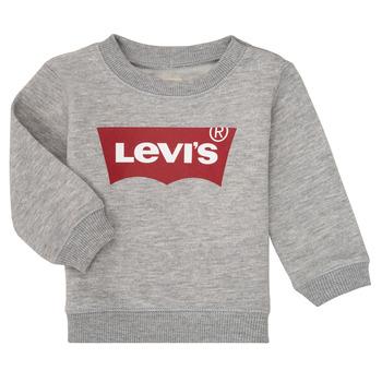 textil Dreng Sweatshirts Levi's BATWING CREW Grå