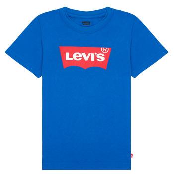 textil Dreng T-shirts m. korte ærmer Levi's BATWING TEE Blå