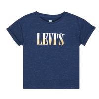 textil Pige T-shirts m. korte ærmer Levi's DROP SHOULDER TEE Blå