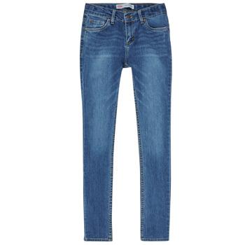 textil Dreng Jeans - skinny Levi's SKINNY TAPER JEANS Blå