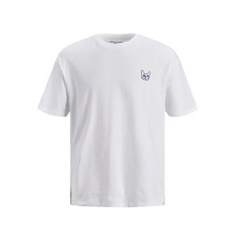 textil Dreng T-shirts m. korte ærmer Jack & Jones JJAARHUS TEE Hvid
