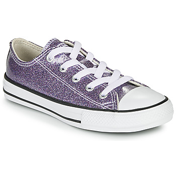 Sko Pige Lave sneakers Converse CHUCK TAYLOR ALL STAR - COATED GLITTER Violet