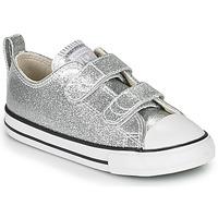Sko Pige Lave sneakers Converse CHUCK TAYLOR ALL STAR 2V - COATED GLITTER Sølv