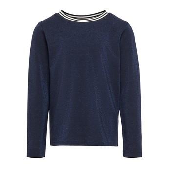 textil Pige Langærmede T-shirts Only KONATHEA Marineblå