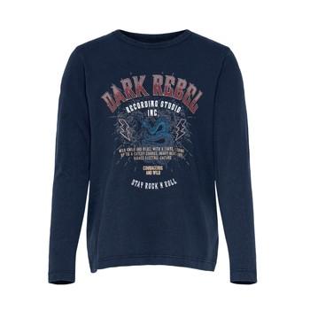 textil Pige T-shirts m. korte ærmer Only KONLUCY LIFE Marineblå