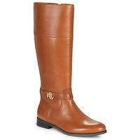 Sko Dame Chikke støvler Lauren Ralph Lauren BAYLEE Cognac
