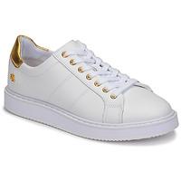 Sko Dame Lave sneakers Lauren Ralph Lauren ANGELINE II Hvid / Guld