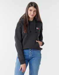 textil Dame Sweatshirts Tommy Jeans TJW TOMMY BADGE HOODIE Sort