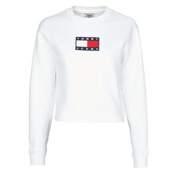 textil Dame Sweatshirts Tommy Jeans TJW TOMMY FLAG CREW Hvid