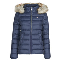 textil Dame Dynejakker Tommy Jeans TJW BASIC HOODED DOWN JACKET Marineblå