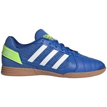 Sko Børn Fodboldstøvler adidas Originals Top Sala Hvid, Blå, Gul