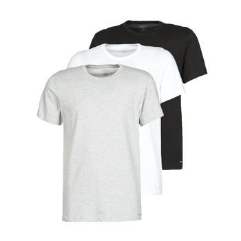 textil Herre T-shirts m. korte ærmer Calvin Klein Jeans CREW NECK 3PACK Grå / Sort / Hvid
