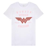 textil Pige T-shirts m. korte ærmer Name it NKFWONDERWOMEN Hvid