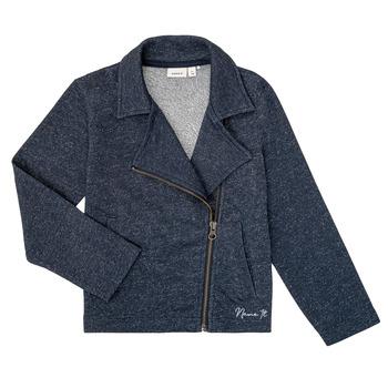 textil Pige Sweatshirts Name it NKFLIBRORG Marineblå
