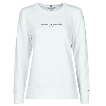 textil Dame Sweatshirts Tommy Hilfiger TH ESS HILFIGER C-NK SWEATSHIRT Hvid