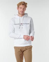 textil Herre Sweatshirts Tommy Hilfiger TOMMY LOGO HOODY Hvid