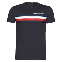 textil Herre T-shirts m. korte ærmer Tommy Hilfiger GLOBAL STRIPE TEE Marineblå