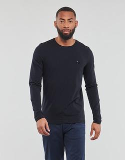 textil Herre Langærmede T-shirts Tommy Hilfiger STRETCH SLIM FIT LONG SLEEVE TEE Sort