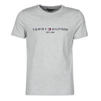 textil Herre T-shirts m. korte ærmer Tommy Hilfiger TOMMY LOGO TEE Grå