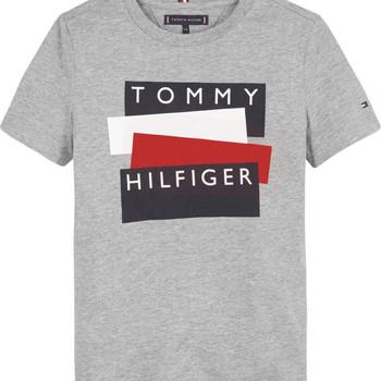 textil Dreng T-shirts m. korte ærmer Tommy Hilfiger KB0KB05849-P6U Grå