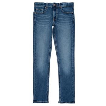 textil Dreng Smalle jeans Tommy Hilfiger SCANTON SLIM Blå