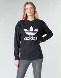 textil Dame Sweatshirts adidas Originals TRF CREW SWEAT Sort