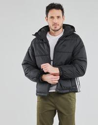 textil Herre Dynejakker adidas Originals PAD HOODED PUFF Sort