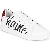 Sko Dame Lave sneakers Bons baisers de Paname SIMONE AMOUR/HAINE Hvid