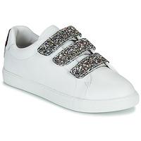 Sko Dame Lave sneakers Bons baisers de Paname EDITH GLITTER TONGUE Hvid