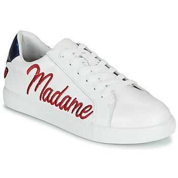 Sko Dame Lave sneakers Bons baisers de Paname SIMONE MADAME MONSIEUR Hvid