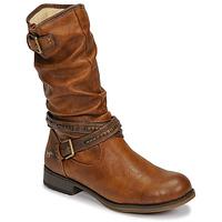 Sko Dame Chikke støvler Mustang  Cognac