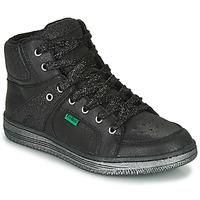 Sko Pige Høje sneakers Kickers LOWELL Sort