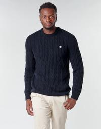 textil Herre Pullovere Timberland LAMBWOOL CABLE Marineblå