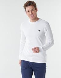 textil Herre Langærmede T-shirts Timberland LS Dunstan River Tee Hvid