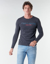 textil Herre Langærmede T-shirts Teddy Smith TICLASS BASIC M Marineblå