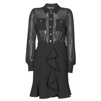 textil Dame Korte kjoler Marciano CAROL SHORT DRESS Sort