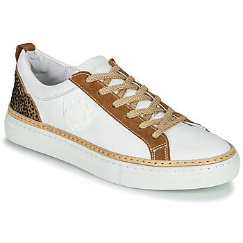 Sko Dame Lave sneakers Philippe Morvan CORK V1 NAPPA BLANC Hvid / Kamel
