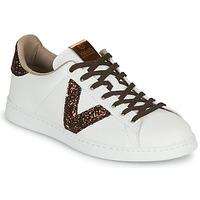 Sko Dame Lave sneakers Victoria TENIS PIEL VEG Hvid / Brun