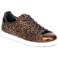Sko Dame Lave sneakers Victoria TENIS GLITTER Bronze